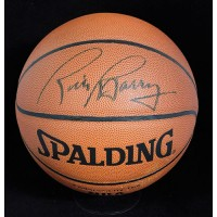 Rick Barry Signed Spalding Indoor/Outdoor Basketball JSA Authenticated