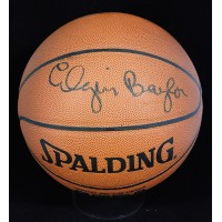 Elgin Baylor Signed Spalding Indoor/Outdoor Basketball JSA Authenticated