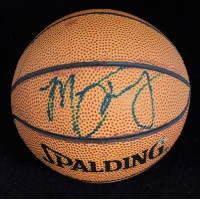 Marcus Camby Signed Spalding Mini Basketball JSA Authenticated
