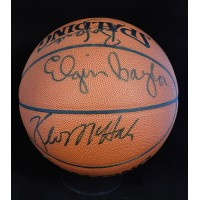 Hall of Famers & Stars Signed Basketball by 6 Baylor, Mchale JSA Authenticated