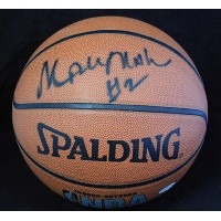 Moses Malone Signed Spalding Indoor/Outdoor NBA Basketball JSA Authenticated