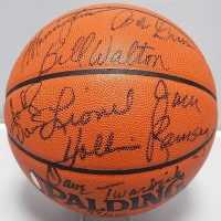 Portland Trail Blazers 1977-78 Signed Basketball 7 Sigs Upper Deck Authenticated