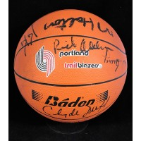 Portland Trail Blazers 1986-87 Team Signed Basketball Beckett Authenticated BAS