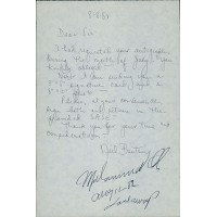 Muhammad Ali Signed 9x6 Autograph Request Dated Letter JSA Authenticated