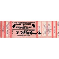 Muhammad Ali Signed Full Ticket Vs. Holmes 10/2/80 Redding, CA JSA Authenticated