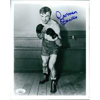 Carmen Basilio Boxer Signed 8x10 Cardstock Photo JSA Authenticated