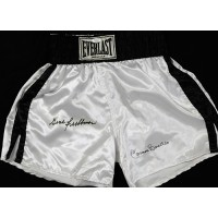 Carmen Basilio and Gene Fuller Signed Boxing Trunks / Shorts JSA Authenticated
