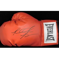 Riddick Bowe Boxer Signed Red Everlast Boxing Glove JSA Authenticated