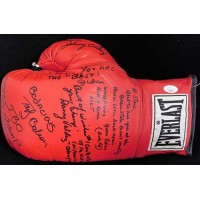 Boxers Chacon, Adair, Ortiz, Valdez Signed Boxing Glove JSA Authenticated