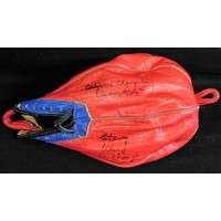Boxers Bobby Chacon, Stan Ward, Danny Valdez Signed Punching Bag JSA Authentic