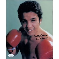 Bobby Chacon Boxer Signed 8x10 Glossy Photo JSA Authenticated