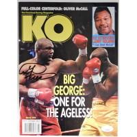 George Foreman Boxer Signed 3/1995 KO Magazine JSA Authenticated