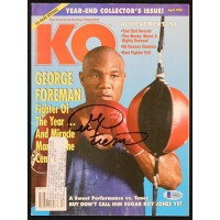 George Foreman Boxer Signed 4/1995 KO Magazine Beckett Authenticated BAS
