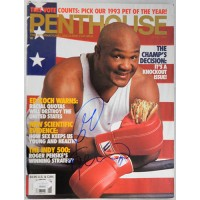 George Foreman Boxer Signed 1992 Penthouse Magazine JSA Authenticated
