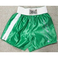 Joe Frazier Signed Green Everlast Boxing Trunks / Shorts JSA Authenticated