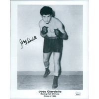 Joey Giardello Boxer Signed 8x10 Cardstock Photo JSA Authenticated