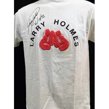 Larry Holmes Boxer Signed T-Shirt JSA Authenticated