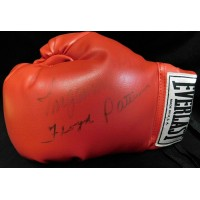 Ingemar Johansson & Floyd Patterson Signed Boxing Glove Fading JSA Authenticated
