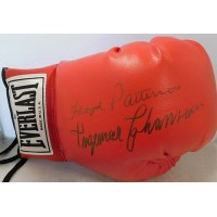 Ingemar Johansson & Floyd Patterson Signed Red Boxing Glove JSA Authenticated