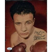 Jake LaMotta Raging Bull Boxing Signed 8x10 Magazine Page Photo JSA Authentic