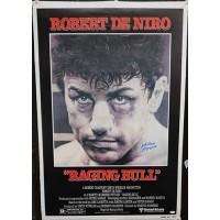 Jake LaMotta Ragging Bull Signed 26.5x39 Poster JSA Authenticated
