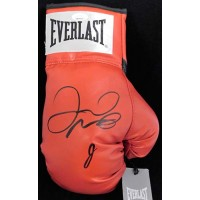 Floyd Mayweather Jr. Signed Red Everlast Boxing Glove JSA Authenticated