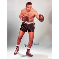 Archie Moore Boxer Signed Glossy 16x20 Photo JSA Authenticated