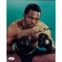 Archie Moore Boxer Signed Glossy 8x10 Photo JSA Authenticated
