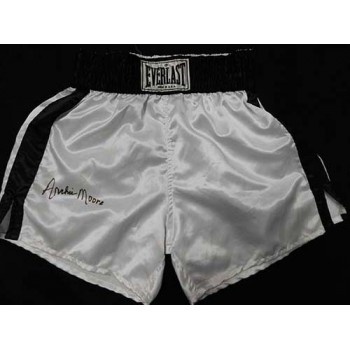 Archie Moore Signed White Everlast Boxing Trunks / Shorts JSA Authenticated
