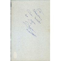 Ken Norton Boxer Signed 5.5x8.5 Cut Page JSA Authenticated