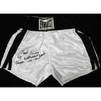Carlos Palomino Signed White Everlast Boxing Trunks / Shorts JSA Authenticated
