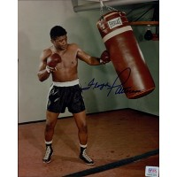 Floyd Patterson Light Heavyweight Boxer Signed Glossy 8x10 Photo PSA/DNA Authenticated
