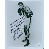 Floyd Patterson Boxer Signed Glossy 8x10 Photo JSA Authenticated