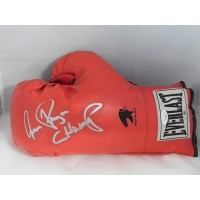 Aaron Pryor Boxer Signed Red Everlast Boxing Glove JSA Authenticated
