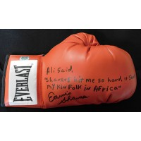 Earnie Shavers Boxer Signed Everlast Boxing Glove with Inc Shavers Authenticated