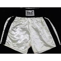 Felix Trinidad Signed White Everlast Boxing Trunks / Shorts JSA Authenticated
