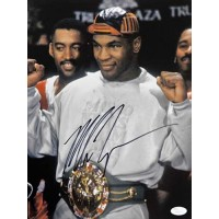 Mike Tyson Boxing Champion Signed 11x14 Matte Photo JSA Authenticated