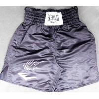 Mike Tyson Signed Black Everlast Boxing Trunks/Shorts Size L JSA Authenticated