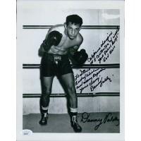 Danny Valdez Boxer Signed 8.5x11 Cardstock Photo JSA Authenticated