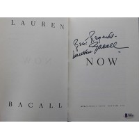 Lauren Bacall Now Signed First Edition Hardcover Book Beckett Authenticated BAS