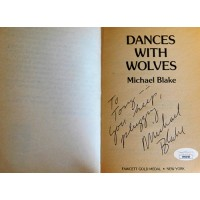 Michael Blake Signed Dances With Wolves Softcover Book JSA Authenticated