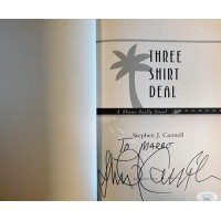 Stephen J. Cannell Signed Three Shirt Deal 1st Hardcover Book JSA Authenticated