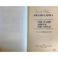 Frank Capra Signed The Name Above The Title Softcover Book JSA Authenticated