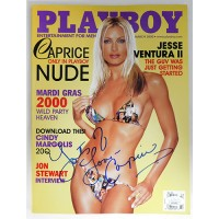 Caprice Signed Playboy March 2000 Magazine JSA Authenticated