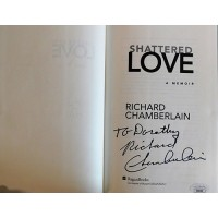 Richard Chamberlain Signed Shattered Love Hardcover Book JSA Authenticated