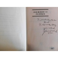 Johnnie L Cochran Jr Journey To Justice Signed Hardcover Book JSA Authenticated