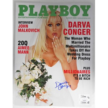 Darva Conger Signed Playboy August 2000 Magazine JSA Authenticated