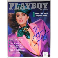 Ava Fabian Signed Playboy April 1987 Magazine JSA Authenticated