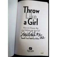 Jennie Finch USA Softball Signed Throw Like A Girl Book JSA Authenticated