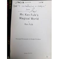 Ken Fulk Signed Ken Fulk's Magic World First Edition Hardcover Book JSA Authen